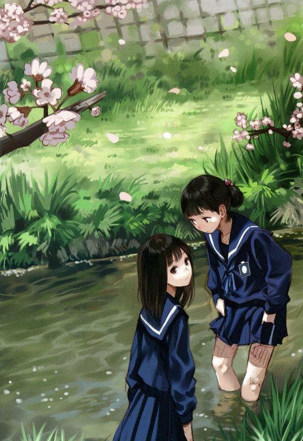 【もうすぐ春ですね】桜と美少女な二次画像【9】