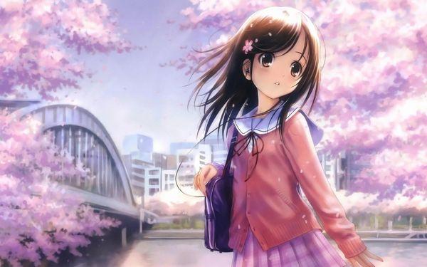 【もうすぐ春ですね】桜と美少女な二次画像【10】