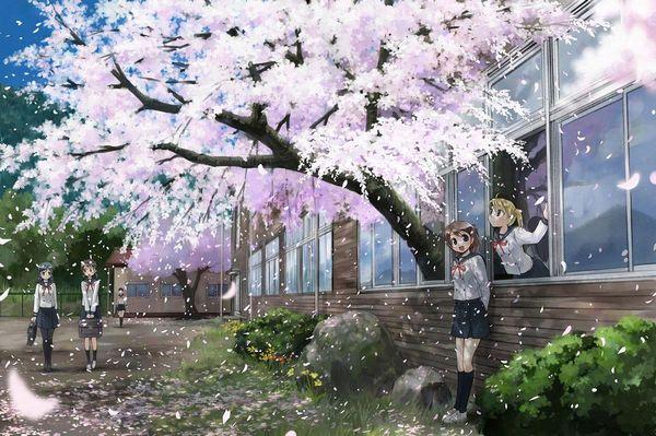 【もうすぐ春ですね】桜と美少女な二次画像【18】