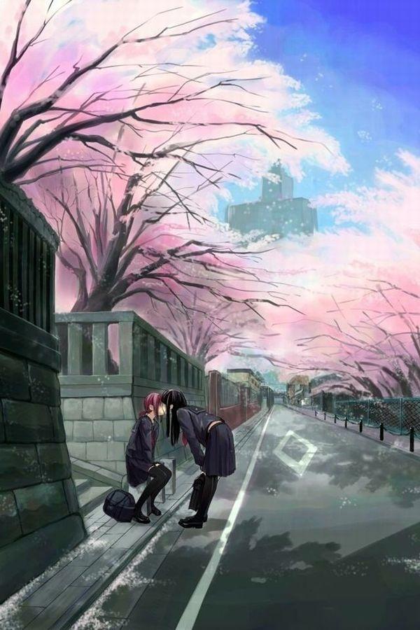 【もうすぐ春ですね】桜と美少女な二次画像【19】