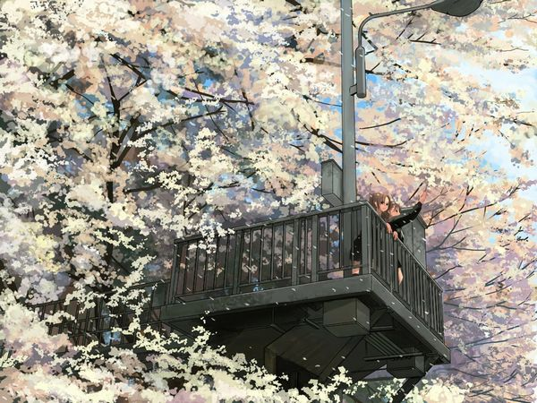 【もうすぐ春ですね】桜と美少女な二次画像【35】