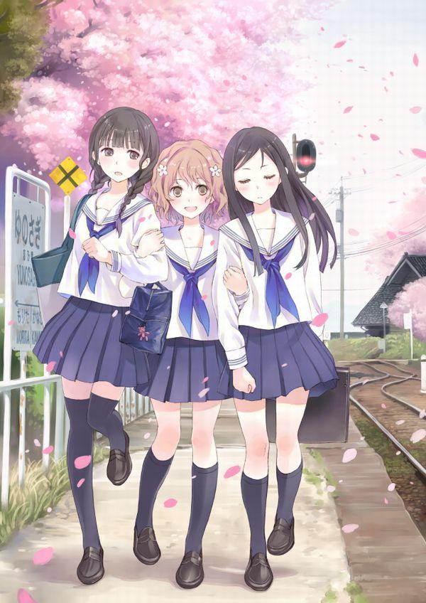 【もうすぐ春ですね】桜と美少女な二次画像【37】