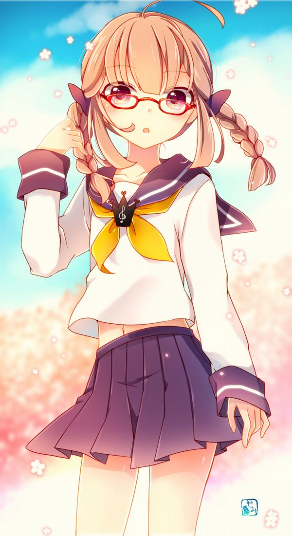 【もうすぐ春ですね】桜と美少女な二次画像【42】
