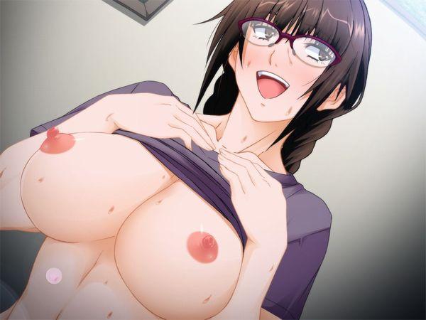 【ベストコンビ】メガネ巨乳女子の二次エロ画像【10】