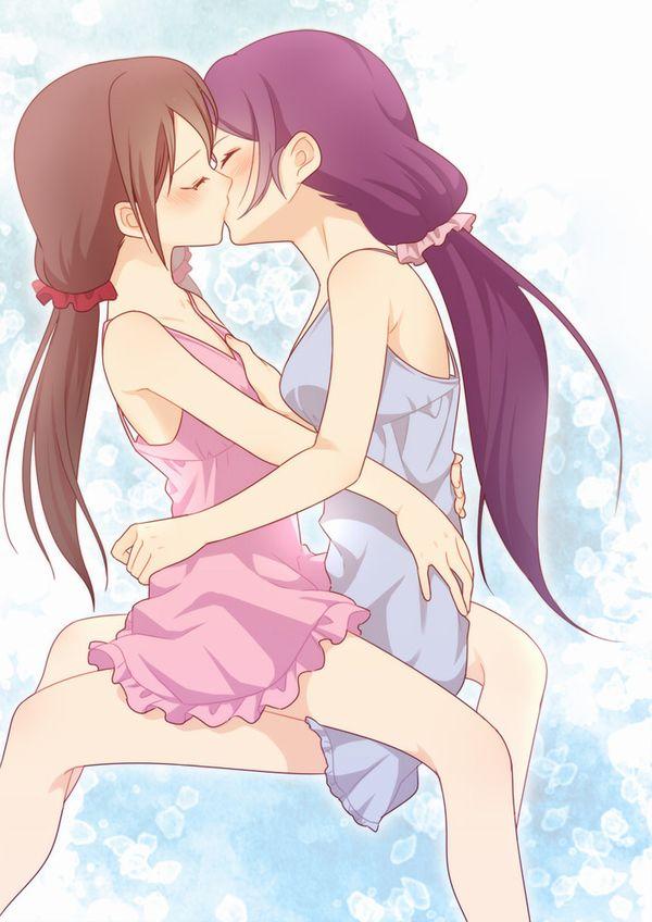 【記念すべき一歩】女の子同士でキスしてるレズキス二次画像【17】