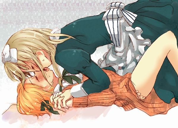 【記念すべき一歩】女の子同士でキスしてるレズキス二次画像【26】
