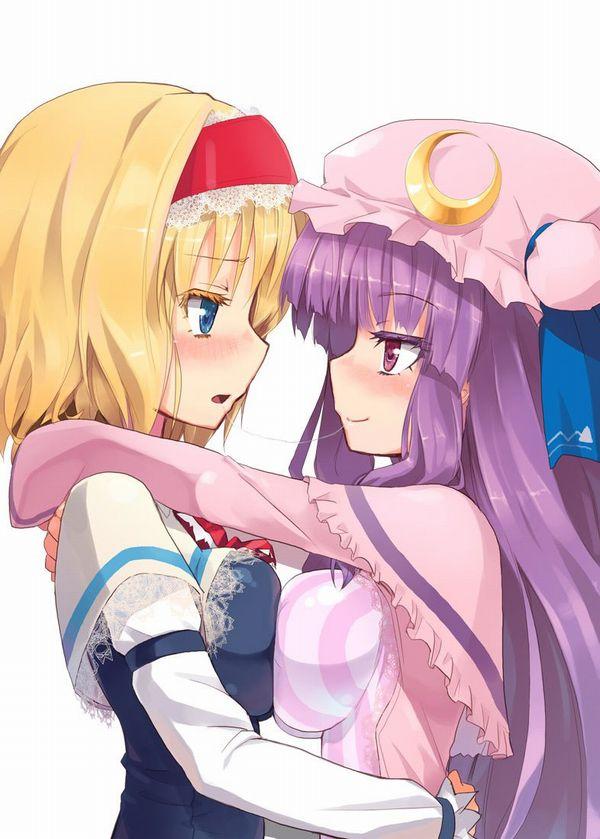 【記念すべき一歩】女の子同士でキスしてるレズキス二次画像【45】