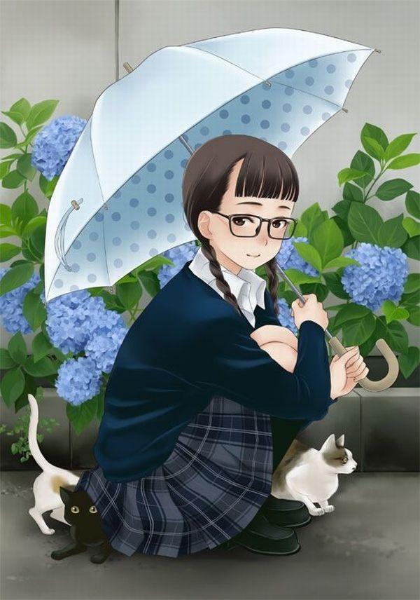 【昭和】おさげに眼鏡・・・テンプレのようなJKの二次画像 【37】