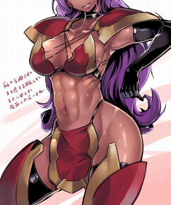 【筋肉】ボディービルダーみたいな体した筋肉質な褐色女子の二次エロ画像 【33】