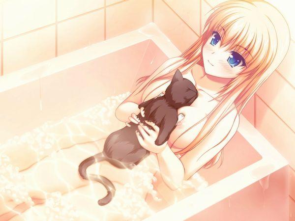 【自宅にて】足の伸ばせない狭い風呂に入る女子の二次エロ画像【24】