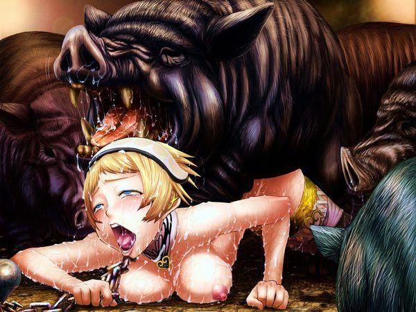 下のお口で豚さんを食べる二次獣姦画像【14】