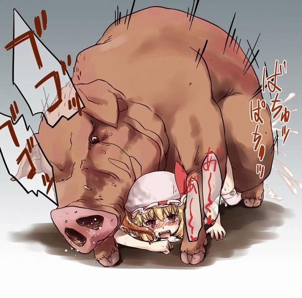 下のお口で豚さんを食べる二次獣姦画像【18】
