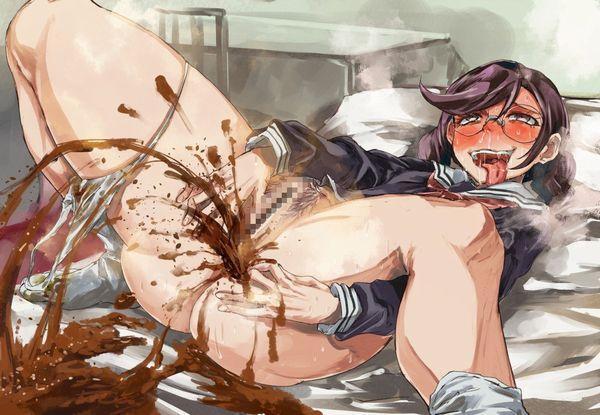 【ぽんぽん痛いの?】下痢便を排泄してる二次エロ画像 【13】