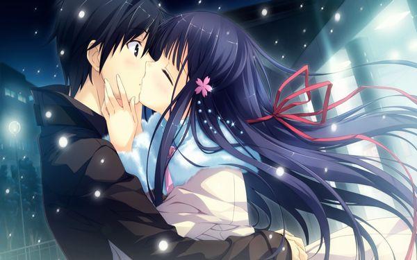 【キス】ベロチューしてるカップルの二次エロ画像 【9】