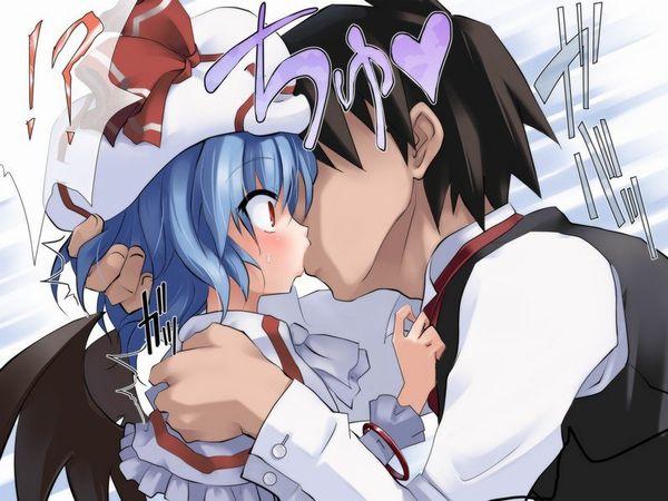 【キス】ベロチューしてるカップルの二次エロ画像 【16】