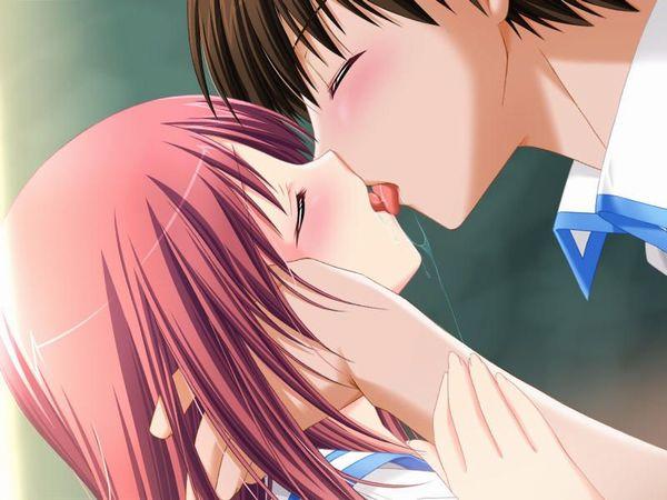 【キス】ベロチューしてるカップルの二次エロ画像 【23】