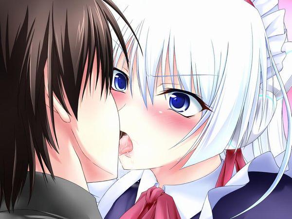 【キス】ベロチューしてるカップルの二次エロ画像 【28】