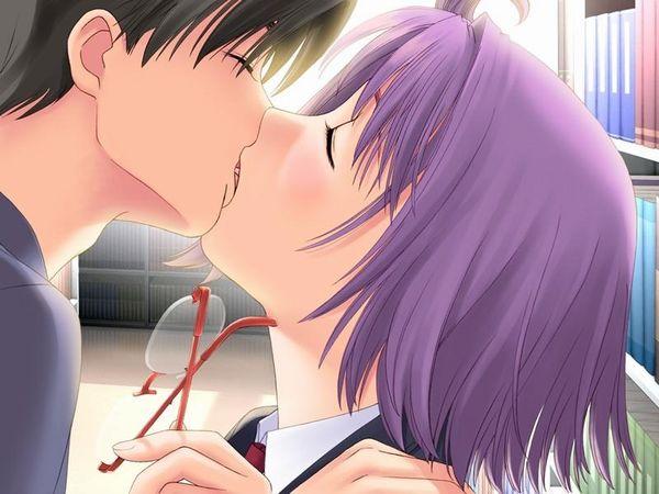 【キス】ベロチューしてるカップルの二次エロ画像 【35】