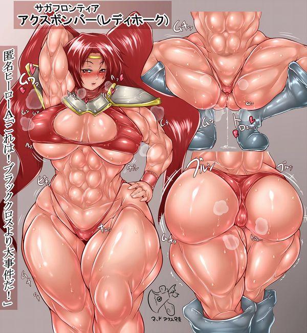 汗臭そうな筋肉女子の二次エロ画像 【15】