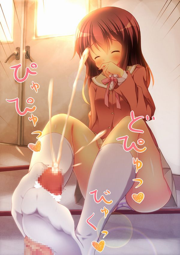 【仕方なく】彼氏にお願いされて恥ずかしそうに足コキしてる二次エロ画像 【14】