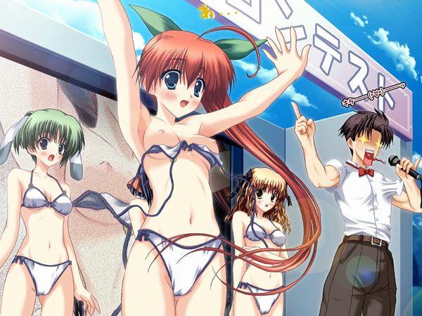 【夏の風物詩】おっぱいポロリして慌てる水着女子達の二次エロ画像 【31】