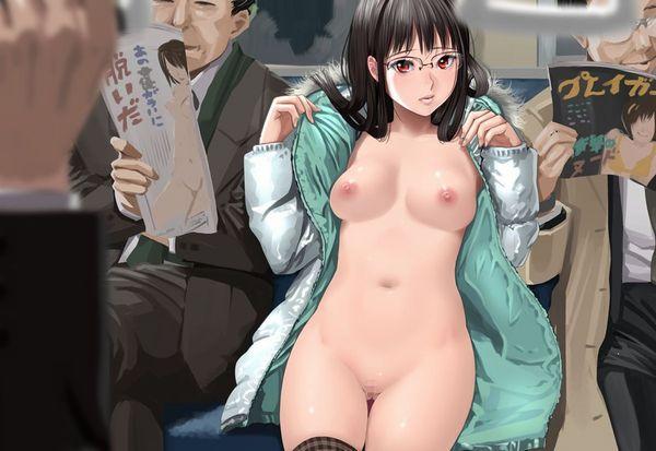 【伝統】「コートの下は裸」そんなクラシカルスタイルで野外露出する二次エロ画像 【24】
