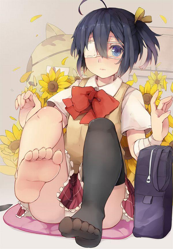 【舐めたい】足裏を見せてくれてる足フェチ向けの二次エロ画像 【1】