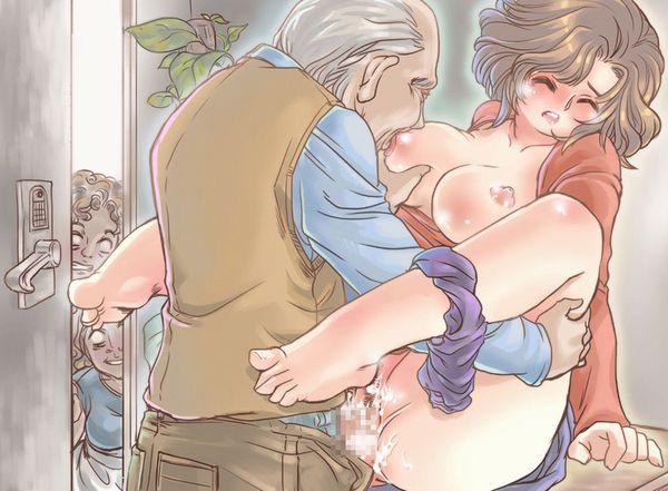 【家庭内の闇】「お義父さんやめて下さい!」みたいなシチュの熟女二次エロ画像 【19】