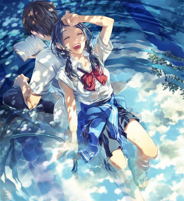 【濡れたり透けたり】着衣のまま海や川で遊ぶ美少女の二次エロ画像 【7】