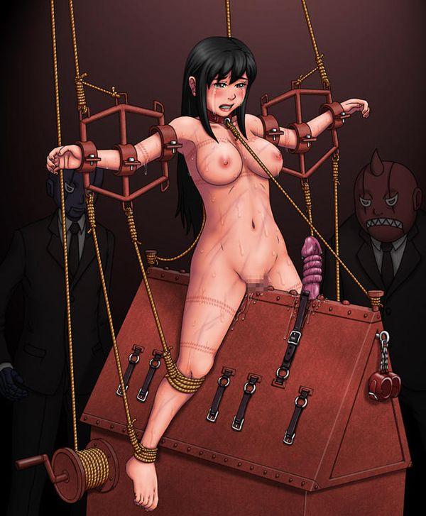 【避けちゃう】三角木馬に乗せられてマンコが痛そうな拷問二次リョナ画像 【7】
