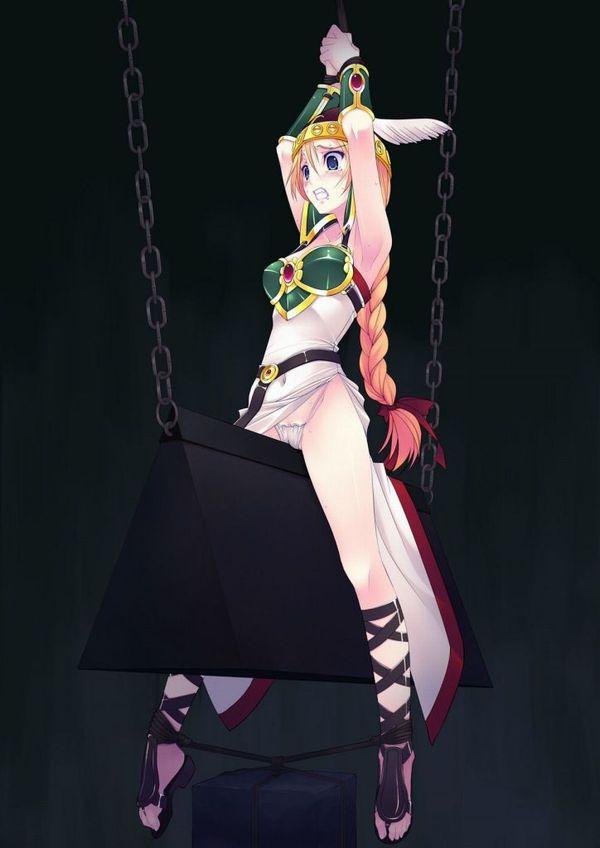 【避けちゃう】三角木馬に乗せられてマンコが痛そうな拷問二次リョナ画像 【13】