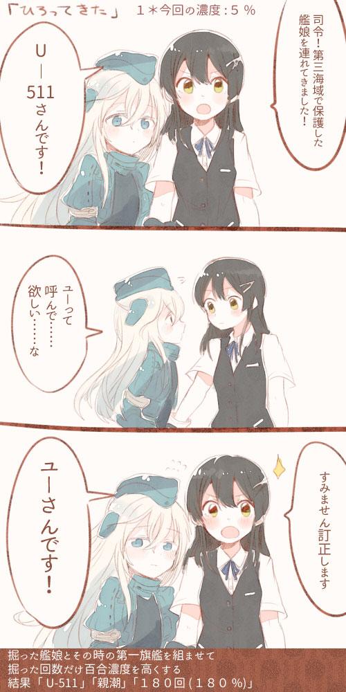 【艦これ百合】ユーちゃんと親潮さんのほっこり百合漫画、可愛すぎて癒されるなぁ・・・
