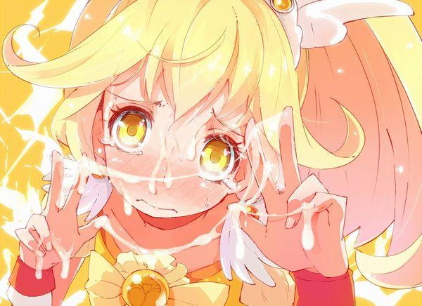 【嫌そう】顔射されて泣きべそかいてる女子達の二次エロ画像 【28】