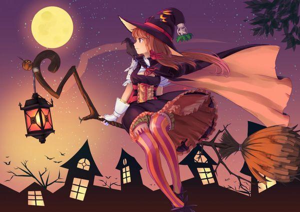 【定番】ホウキに跨ってる魔女・魔法少女の二次画像 【4】