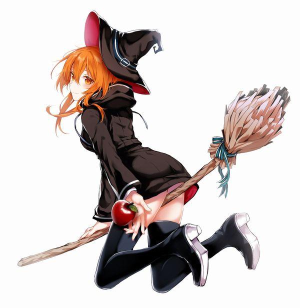 【定番】ホウキに跨ってる魔女・魔法少女の二次画像 【15】