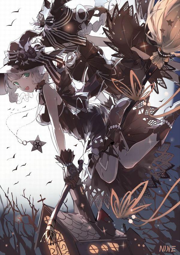 【定番】ホウキに跨ってる魔女・魔法少女の二次画像 【18】