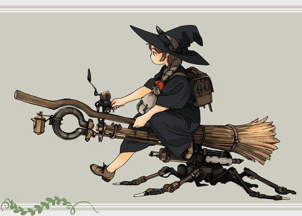 【定番】ホウキに跨ってる魔女・魔法少女の二次画像 【19】
