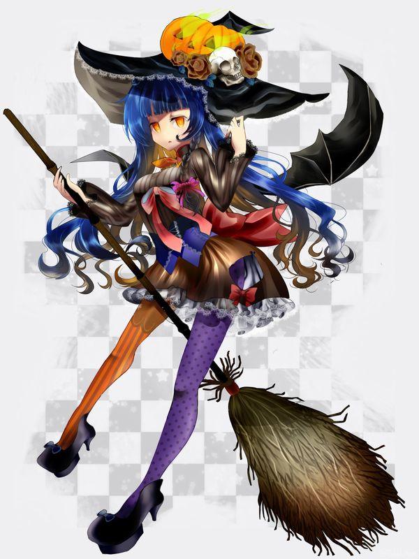 【定番】ホウキに跨ってる魔女・魔法少女の二次画像 【23】