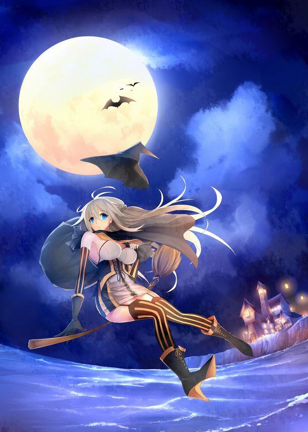 【定番】ホウキに跨ってる魔女・魔法少女の二次画像 【28】
