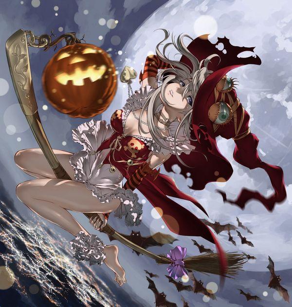 【定番】ホウキに跨ってる魔女・魔法少女の二次画像 【29】