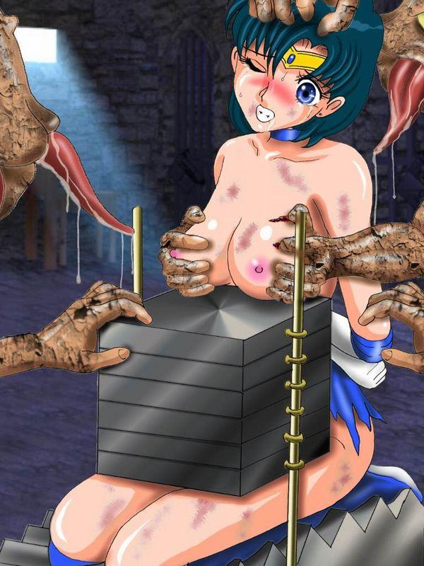 【時代劇あるある】日本でも古来より行われし拷問「石抱き」の二次リョナ画像 【13】