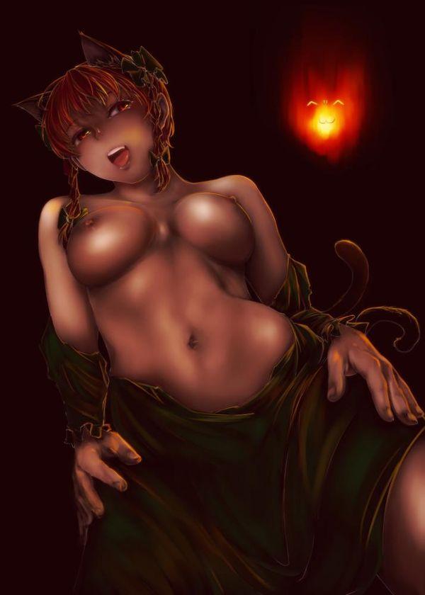 【東方】火焔猫燐(かえんびょうりん)のエロ画像 【46】