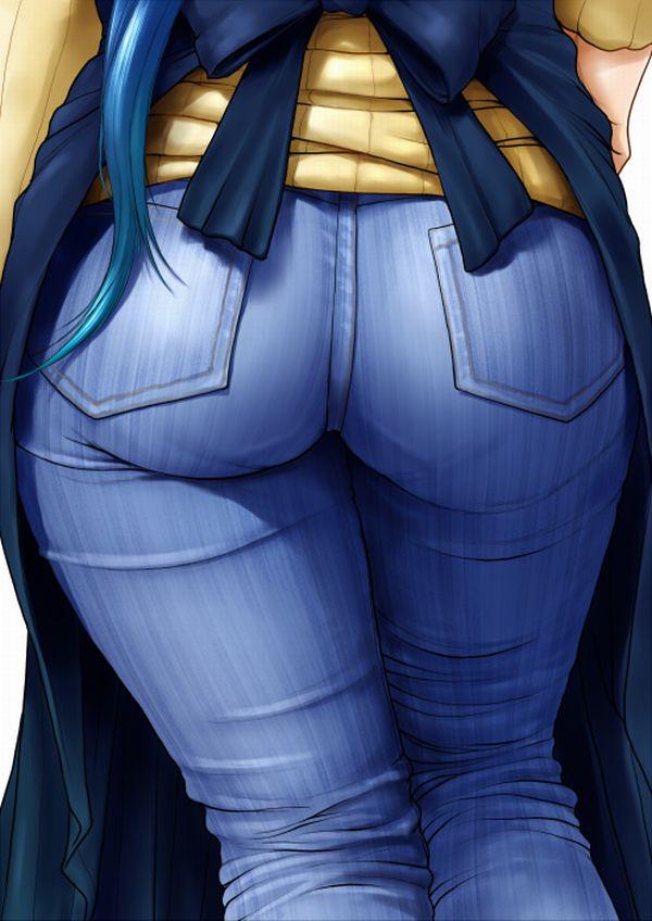 【デニム女子】ジーンズはいてるお尻がそそる二次エロ画像 【5】