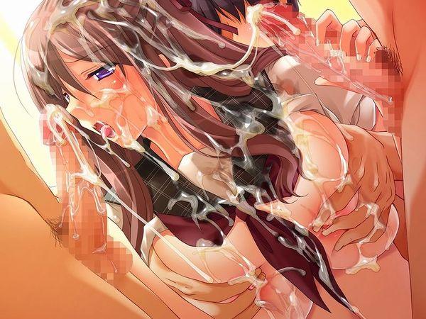 【ザーメンシャワー】全身精液塗れな女の子の二次エロ画像 【8】