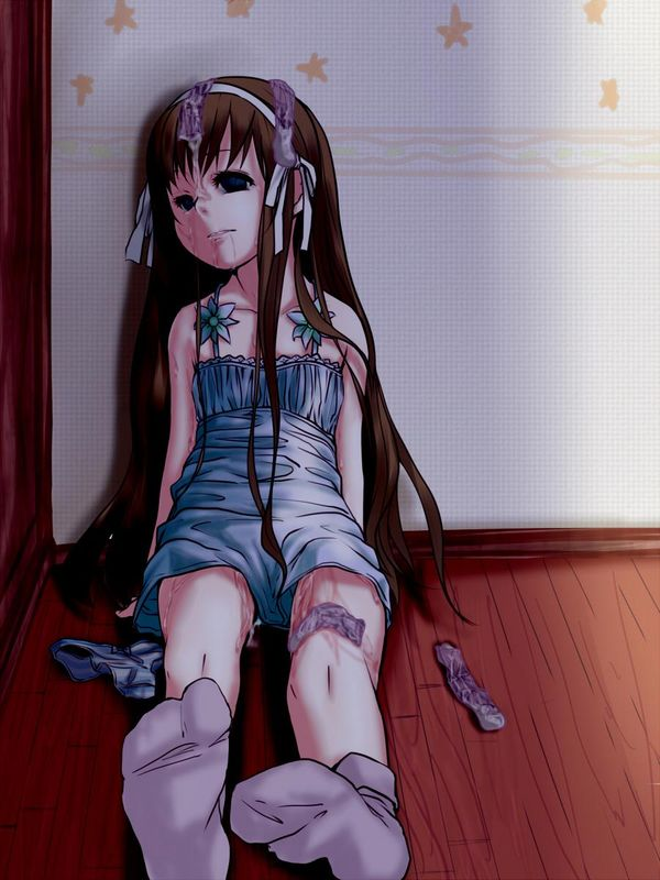 【悲惨】レイプ後に放置された痛々しい女子の二次エロ画像 【5】