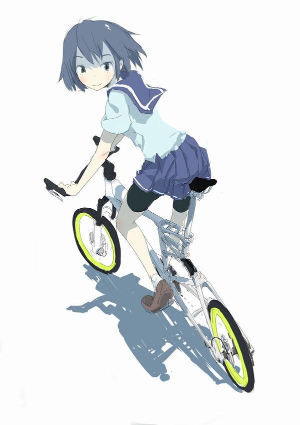 【日常風景】家が少し遠いから・・・自転車通学してる女子高生の二次画像 【9】