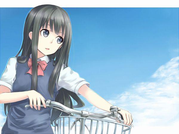 【日常風景】家が少し遠いから・・・自転車通学してる女子高生の二次画像 【10】