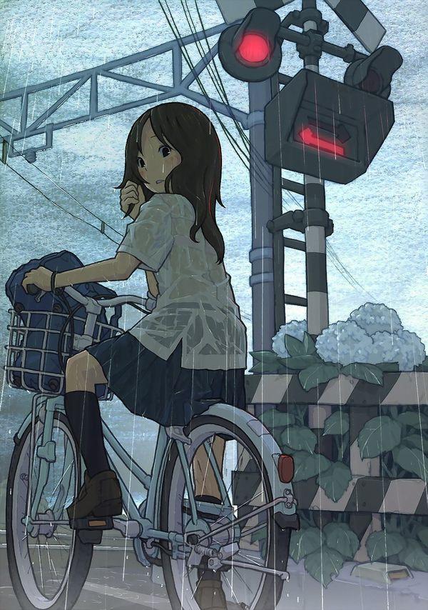 【日常風景】家が少し遠いから・・・自転車通学してる女子高生の二次画像 【15】