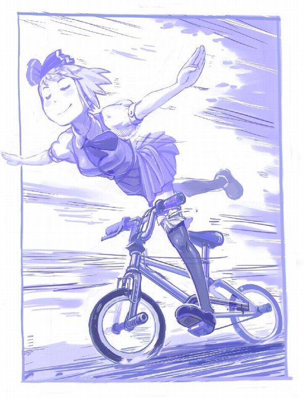 【日常風景】家が少し遠いから・・・自転車通学してる女子高生の二次画像 【25】