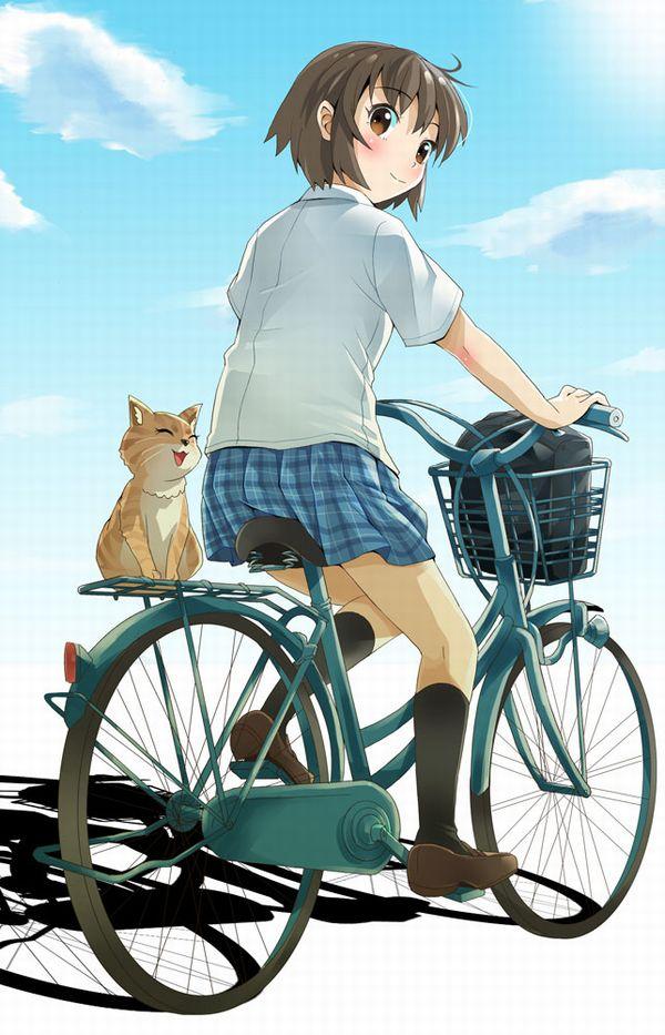 【日常風景】家が少し遠いから・・・自転車通学してる女子高生の二次画像 【28】